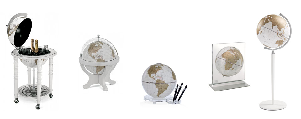 bar globes white
