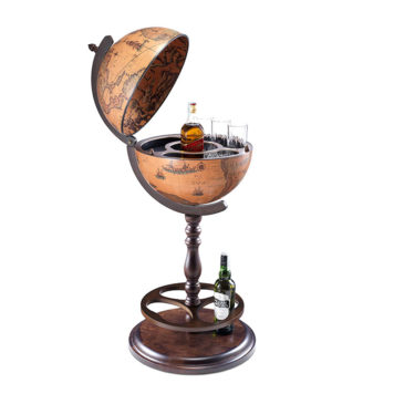 Bar globe 'Classic' with hidden wheels Icaro