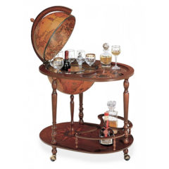 Bar Globe with bottle and glass holder