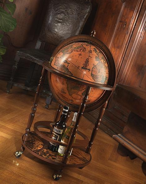 Classic Bar Globe With Wheels Minerva Bar Globes