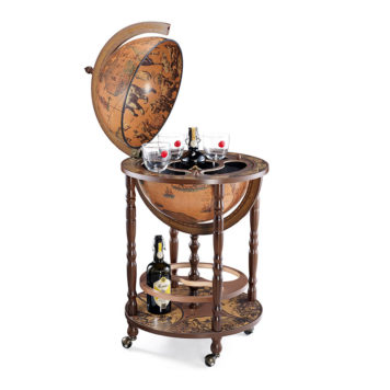 Classic bar globe with wheels Minerva