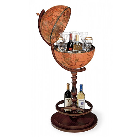 Classic Bar Globe equipped with hidden wheels