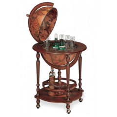 Classic Bar Globe with bottle storage