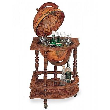 $419.56 - Bar Globe 'Corner' With Drinks Cabinet – Bar Globes