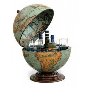 Desk globe with drinks cabinet Laguna