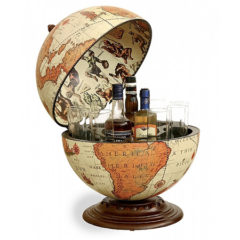 Desk globe with drinks cabinet Safari