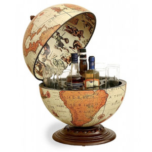Safari Desk Globe In Mini Bar Style Bar Globes