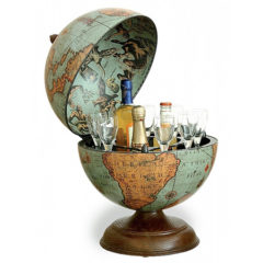 Desk globe with small drinks holder Laguna