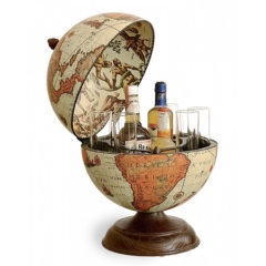 Desk globe with small drinks holder Safari