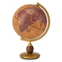 Gea desk globe on metal base