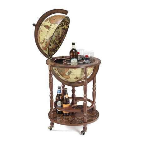 Safari bar globe with wheels Minerva