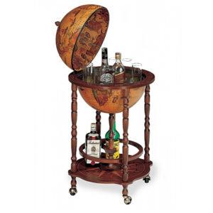 Zoffoli bar globe on wheels
