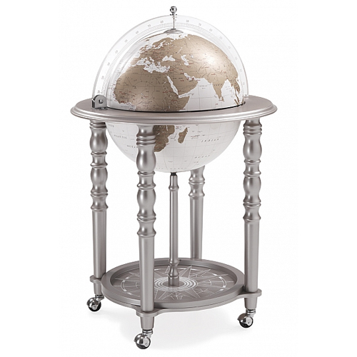 elegant bar globe grey with white globe bar globes. Black Bedroom Furniture Sets. Home Design Ideas